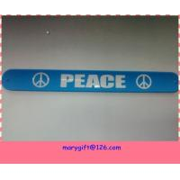 cheap slap bracelets with debossed logo Manufactures