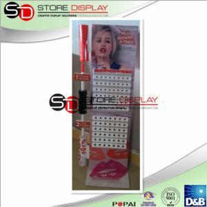 China Modern Corrugated Cardboard Floor Display , Lip Gloss Multideck Point Of Purchase Display on sale