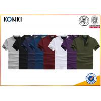 Knitted Custom Polo Shirt 100% Cotton Polo Shirts 200gsm Fabric Weight for Men Manufactures