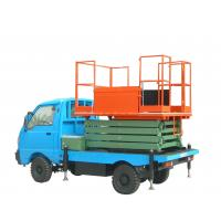 9m Height Truck Mounted Scissor Lift Hydraulic Lift Table 500Kg Loading Capacity Manufactures