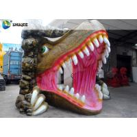 Vivid Dinosaur 5D Movie Theater With Red Luxury Chairs , Genuine Leather Fiberglass Manufactures