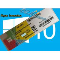 Oem And Retail Key Version Windows 10 Pro Coa Sticker With Scratch Coating Manufactures