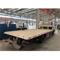 Hydraulic Control Flatbed Road Wrecker Truck 360 Rotation Angle ISO9001 Manufactures