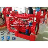 High Performance Fire Pump Diesel Engine 209kw With Speed 2100RPM , UL Listed Manufactures