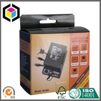 Glossy Laminated Corrugated Cardboard Electronics Packaging Box Self Hanging Tab Manufactures