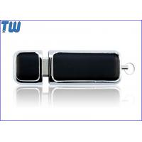 PU Leather Cover 64GB USB Flash Drives Smooth Edge Fine Touch Manufactures