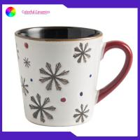 Christmas Cup Hand Painted Ceramic Coffee Mugs Lead / Cadmium Free Customized Manufactures