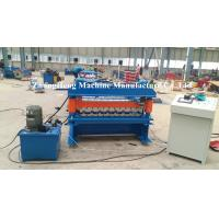 Zinc / Aluminum Forming Machine 15 m / min Speed Roof Sheet Bending Machine Manufactures