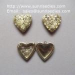 Filigree copper heart photo lockets wholesale, fillagree brass heart locket Manufactures
