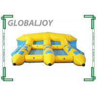 Tarpaulin Inflatable Water Games , Inflatable Flying Fish Banana Boat Manufactures
