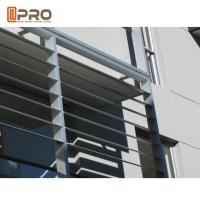 Hurricane - Proof Aluminum Louver Window , Security Jalousie Window Manufactures