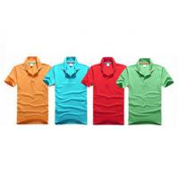 Embroidery Cotton Polo Shirts Eco - Friendly Yarn Dyeing In A Variety Of Colors Manufactures
