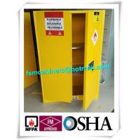 Yellow Flammable Safety Cainets , Industry Flame Proof Storage Cabinets Manufactures