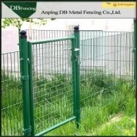 Green Galvanized Wire Mesh Face Gate , Welded Wire Mesh Fencing Panels Manufactures