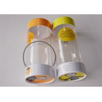 Quality Small Clear Plastic Presentation Box , Personalised Clear Plastic Cups With Lids String Handle Tube Shape for sale