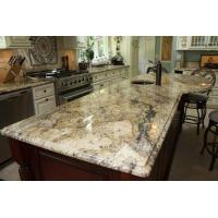 China Yellow River / Golden River Granite Vanity Countertops For Traditional Bathroom on sale