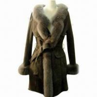 China Double Face Rex Rabbit Fur Coat, Elegant Fitting and Workmanship on sale