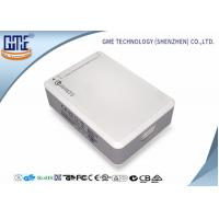 White 6 Port Desktop  Power Supply with USB 50 w Quick Charger UL CE FCC Manufactures