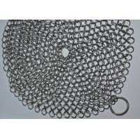 7X7 Inch 316 Stainless Steel Chainmail Scrubber / Cast Iron Cleaner Manufactures