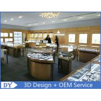Elegant S / S Store Jewelry Display Cases 3D Design Beige + Matte White Manufactures