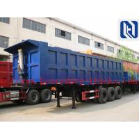 China 3 Axle 40T Container Flat Side Rollover Semi Dump Trailers / Side Dump Trailer on sale