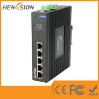 Din Rail Unmanaged Ethernet Gigabit 5 Port Network Switch  1Gbps 0.9Mpps Manufactures