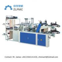 China Two Layers Automatic Plastic Bag Making Machine For T-Shirt Bag Rolled Flat Bag on sale