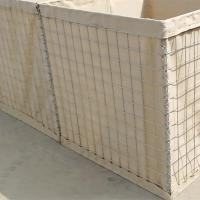Brown Color Hesco Bastion Or Army Defensive Hesco Wall With Galfan Wire Manufactures