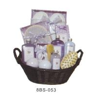 Basket Bubble Bath Gift Set , 20g Bath Gloves , Wooden Brush #8BS-053 Manufactures
