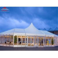 Luxurious High Peak Polygon Tent For Trade Fair Span From 3m To 60m Manufactures