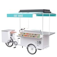 Electric Bicycle Beer Cart , Mobile Vending Cart With High Load Capacity Manufactures