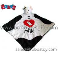 15Super Soft Plush Cow head style Doudou Stuffed Animal Baby Comforter Blanket Manufactures