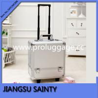 China SATCMC006 solid silver ABS trolley luggage beauty case on sale