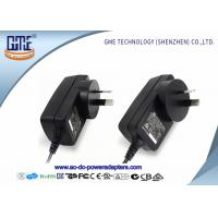 1.5m DC Cable Wall Mount Power Adapter 12V RCM Certificated With Black Color Manufactures