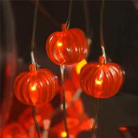 Wire Halloween Lights on Sale battery operated orange smd pumpkin Led halloween lights Manufactures