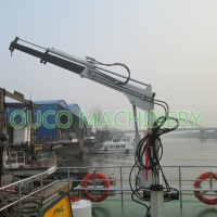 Small 0.35T 3.5M Yacht Telescopic Boom Crane Manufactures