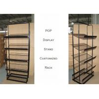 Light Duty Commercial Metal Wire Display Racks With Mulitple Shelves KD Structure Manufactures