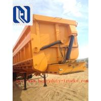 China 3 Axles 50 - 70T Sinotruk CIMC 45cbm Tipper Dump Trailer For Bauxite Ore Loading on sale