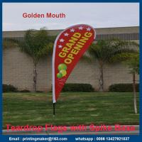 Medium Size Printed Teardrop Flags Banners Manufactures