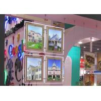 Quality Real Estate Window Crystal LED Light Box Display Single Sided With Steel Cable System for sale
