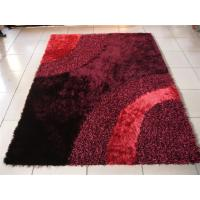Wave Design Polyester Mixed Shaggy Carpet Design Area Rug Decent Carpet Manufactures