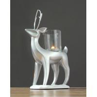 Standing Reindeer Tealight Candle Holders / Glass Cup Candle Wax Sculpture Manufactures