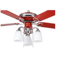Red Decorative Energy Saving Outdoor Ceiling Fan Light Kits With Remote Controller Manufactures