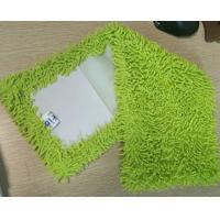 Microfiber 650gsm Green Small Chenille Folded 13*47cm Oxford Pocket Wet Mop Pads Manufactures