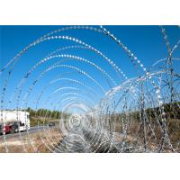 China Galvanized Gaucho Security Barbed Wire On Top Of Fence , Thin Razor Wire on sale