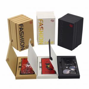 Custom Design iPhone Case Paper Packaging Box 300gsm Kraft Paper Materials Manufactures