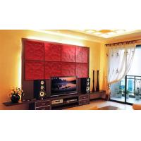 PU Red / White 3D Decorative Wall Panel for Interior Decoration