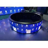 China Round Indoor Fixed LED Display P3.91 Curved Module Shape Fixed Installation on sale