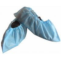 China Disposable Non-Woven PP CPE Shoecover Medical Textile Products Non - Skid Shoe Cover on sale