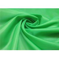 China 100% Polyester Taffeta Lining Fabric , Woven & Dyeing Green Taffeta Fabric on sale